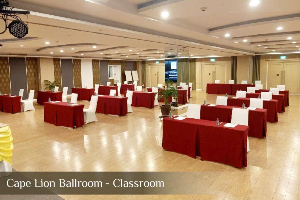 Cape Lion Ballroom - Classroom